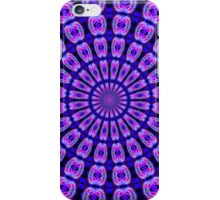 Circular Blue Pink Kaleidoscope Mandala iPhone Case/Skin