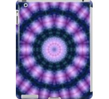 Glowing Blue and Pink Kaleidoscope Mandala iPad Case/Skin