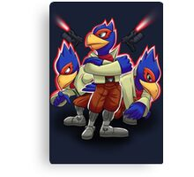 Falco Victory Pose T-Shirt Canvas Print