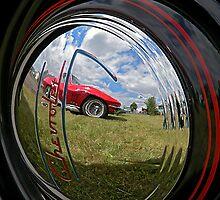 Chevrolet Corvette reflection by Cyndi Easterly
