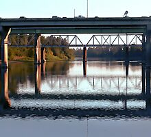 Bridge over the Willamette River by Cyndi Easterly