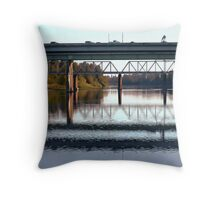 Bridge over the Willamette River Throw Pillow