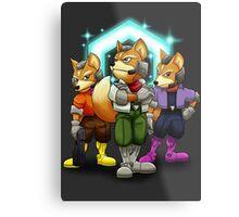 Fox Victory Pose T-Shirt  Metal Print