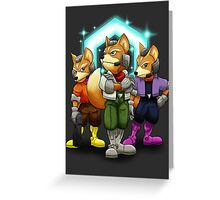 Fox Victory Pose T-Shirt  Greeting Card