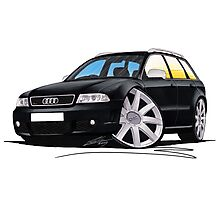 Audi RS4 Avant Black Photographic Print