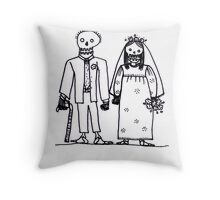 getting hitched Throw Pillow