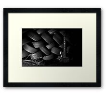 Even through the darkness the music moved us... Framed Print