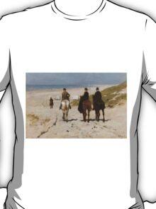 Morning Ride On The Beach - Anton Mauve T-Shirt