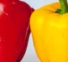 Red and yellow peppers Sticker