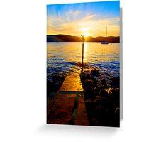 Follow The Light - The HDR Series- Palm Beach , Sydney Australia Greeting Card