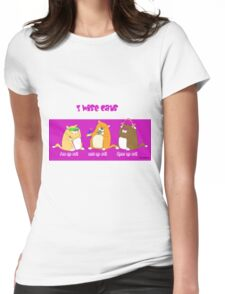 3 wise cats Womens Fitted T-Shirt