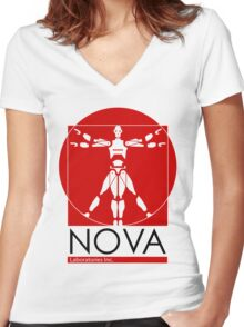 Welcome to Nova Laboratories Women's Fitted V-Neck T-Shirt