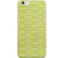 French Damask, Ornaments, Swirls - Green White iPhone Case/Skin