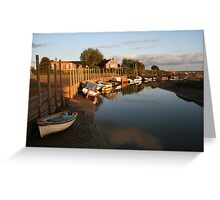 Sunrise at Blakeney Harbour Greeting Card
