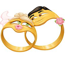 Funny wedding rings Photographic Print