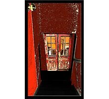 Red Entry Photographic Print