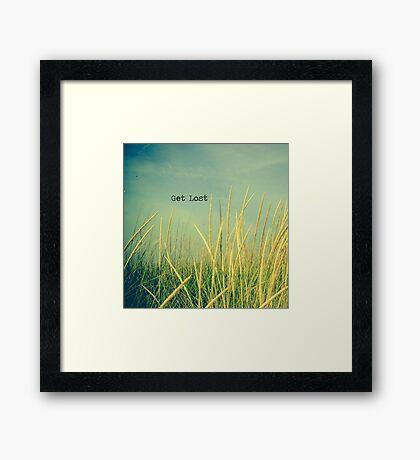Get Lost Framed Print