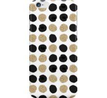 Sadie - Modern gold and black abstract brushstroke art glitter sparkle gifts for trendy gender neutral design iPhone Case/Skin
