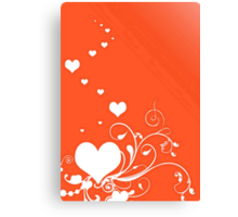 White Valentine Hearts On Red Background Canvas Print