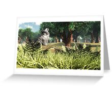 Mon ami le loup / My friend the wolf Greeting Card
