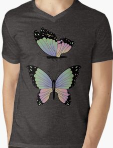 Cartoon Butterflies Mens V-Neck T-Shirt