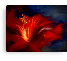 In Red Canvas Print