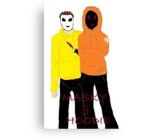 Masky & Hoodie Canvas Print