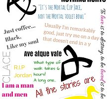 The Mortal Instruments and the Infernal Devices Collage by vyle0101