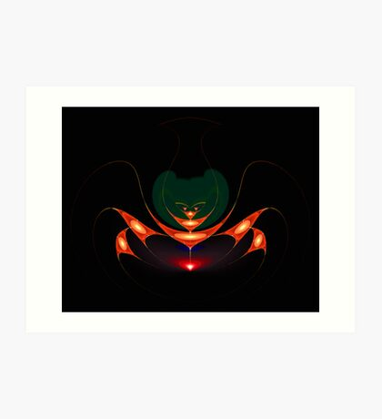 Insect fractal composition Art Print