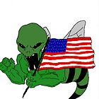 "Alien ""B"" Massive Attack showing his Patriotic side! by bwearbiz"