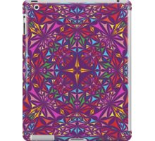 Colorful kaleidoscopic triangles iPad Case/Skin