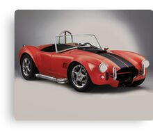 Performance sports car - Red Cobra Canvas Print