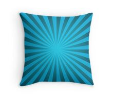 Cyan rays abstract Throw Pillow