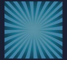 Cyan rays abstract Kids Tee
