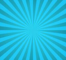 Cyan rays abstract Sticker