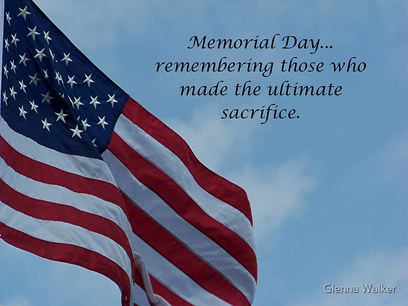On Memorial Day by Glenna Walker