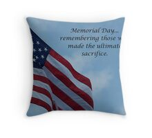 On Memorial Day Throw Pillow
