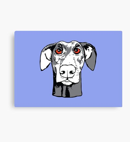 Quirky funny doberman Canvas Print