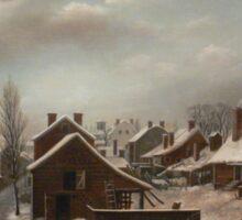 Winter Scene in Brooklyn - Francis Guy Sticker