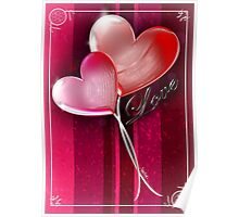 Twin Love Balloons Poster