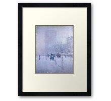 Late Afternoon New York Winter - Childe Hassam Framed Print