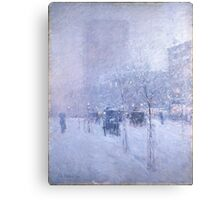 Late Afternoon New York Winter - Childe Hassam Canvas Print