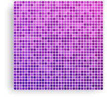 Pink purple square mosaic Canvas Print