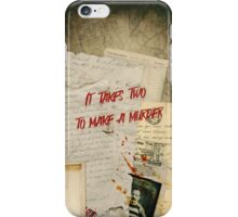 Murder Board iPhone Case/Skin