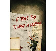 Murder Board Photographic Print