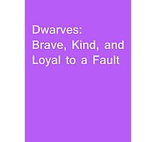 Definition of Dwarves - White Photographic Print