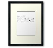 Definition of Dwarves Framed Print