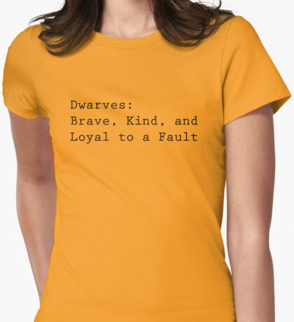 Definition of Dwarves Womens Fitted T-Shirt