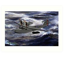 A Saro Cloud A29 of the Royal Air Force Art Print