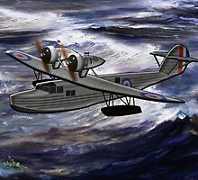 A Saro Cloud A29 of the Royal Air Force by Dennis Melling